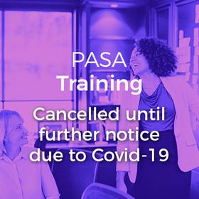 PASA Training Cancelled Notice