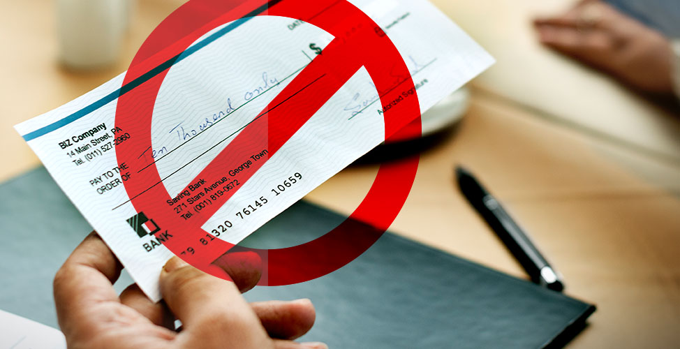 Cheque Discontinuation Image